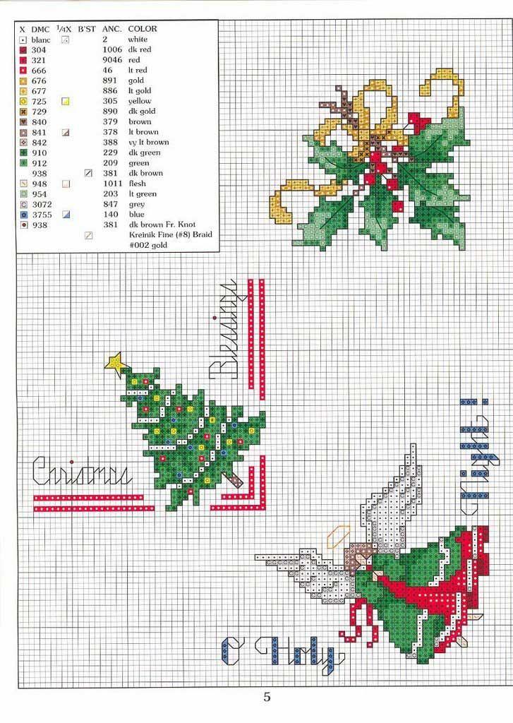 Patrones navideños para punto de cruz | Pinterest | Punto en cruz ...