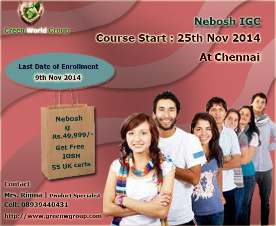 Green World Group Announce Incredible Offer For Nebosh Course In