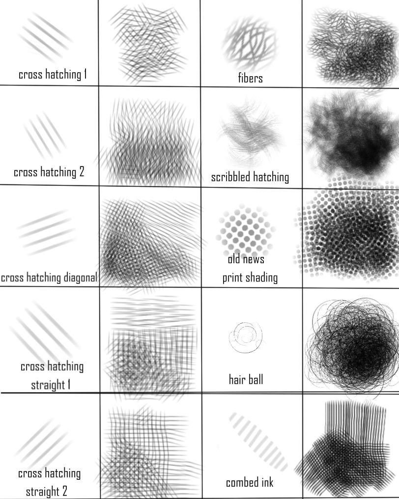 Sketchbook Pro Cross Hatching Brush Set By Autodidactartacademy