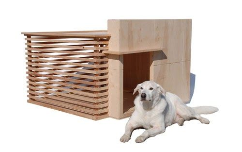 Architectura is a modern dog house inspired by the work of Frank Lloyd Wright designed and created by David M. Neighbor of Pre Fab Pets. ...