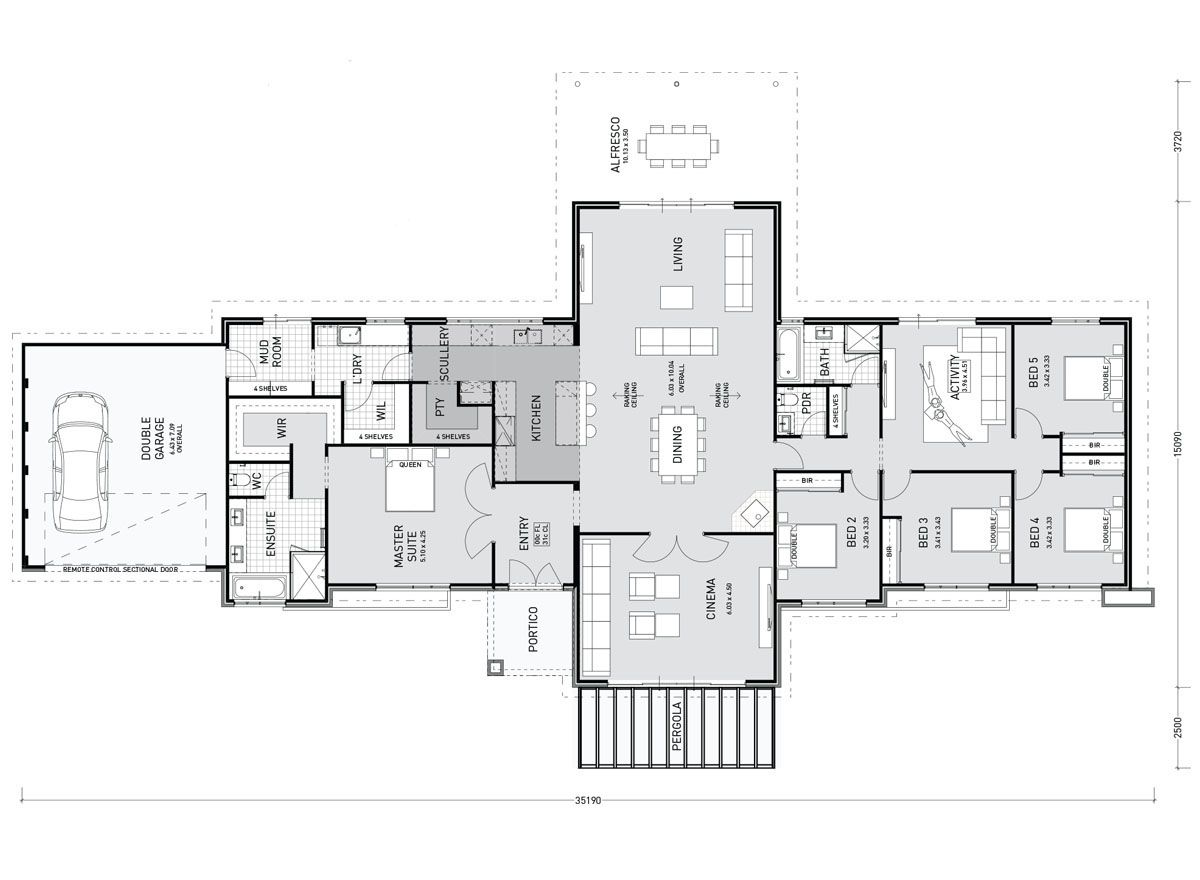Floor Plan Friday 5 Bedroom Raked Ceilings Mudroom Scullery Floor Plans House Plans How To Plan