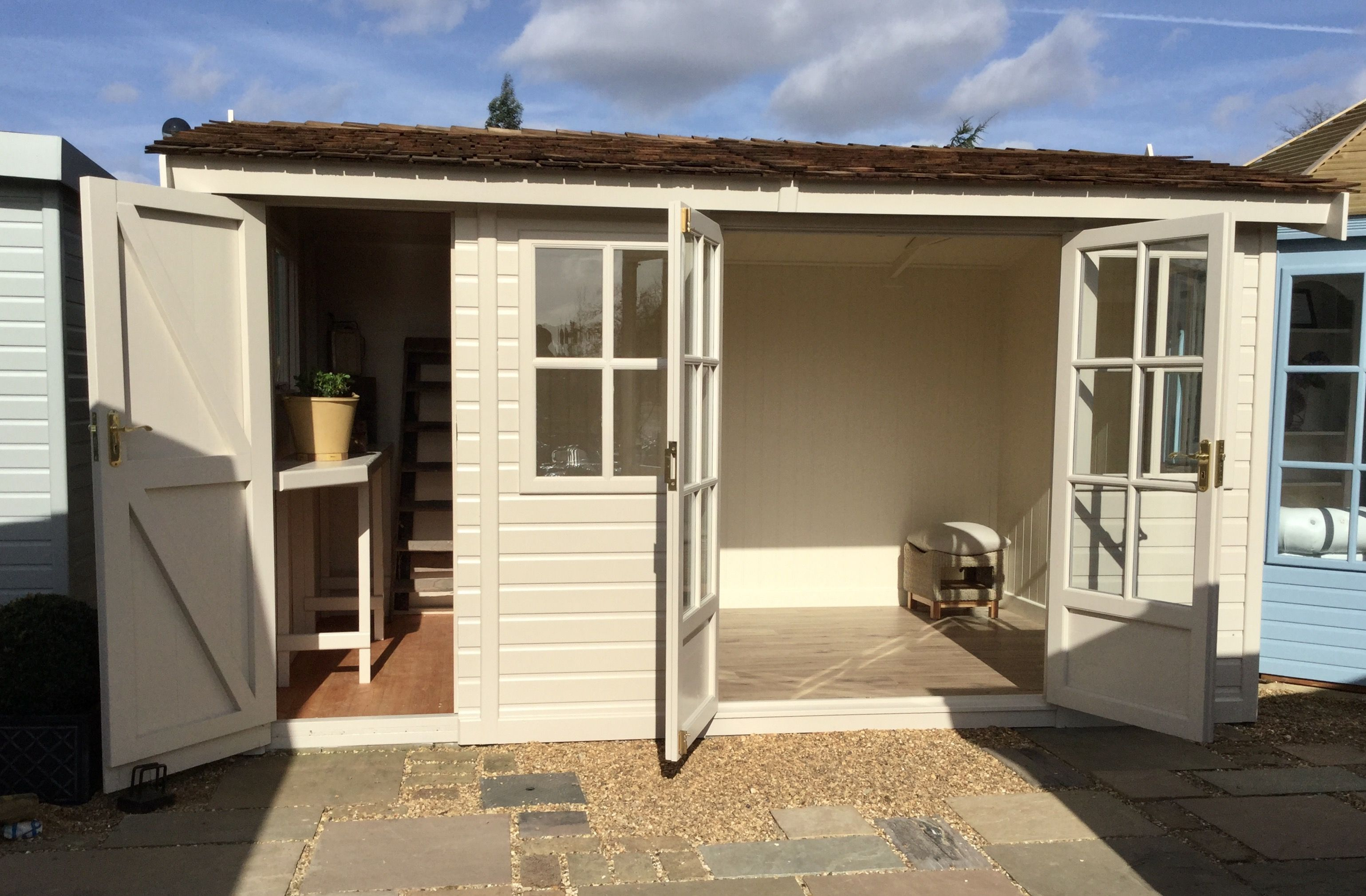 Pavillon X Style : The arley pavilion garden room with integral tidy store