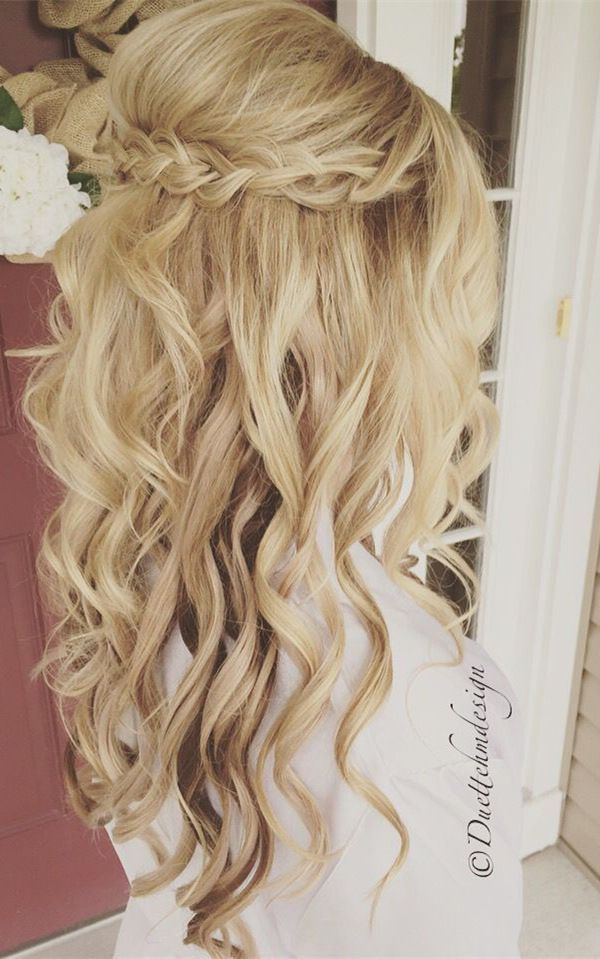 beautiful half up half down wedding hairstyle