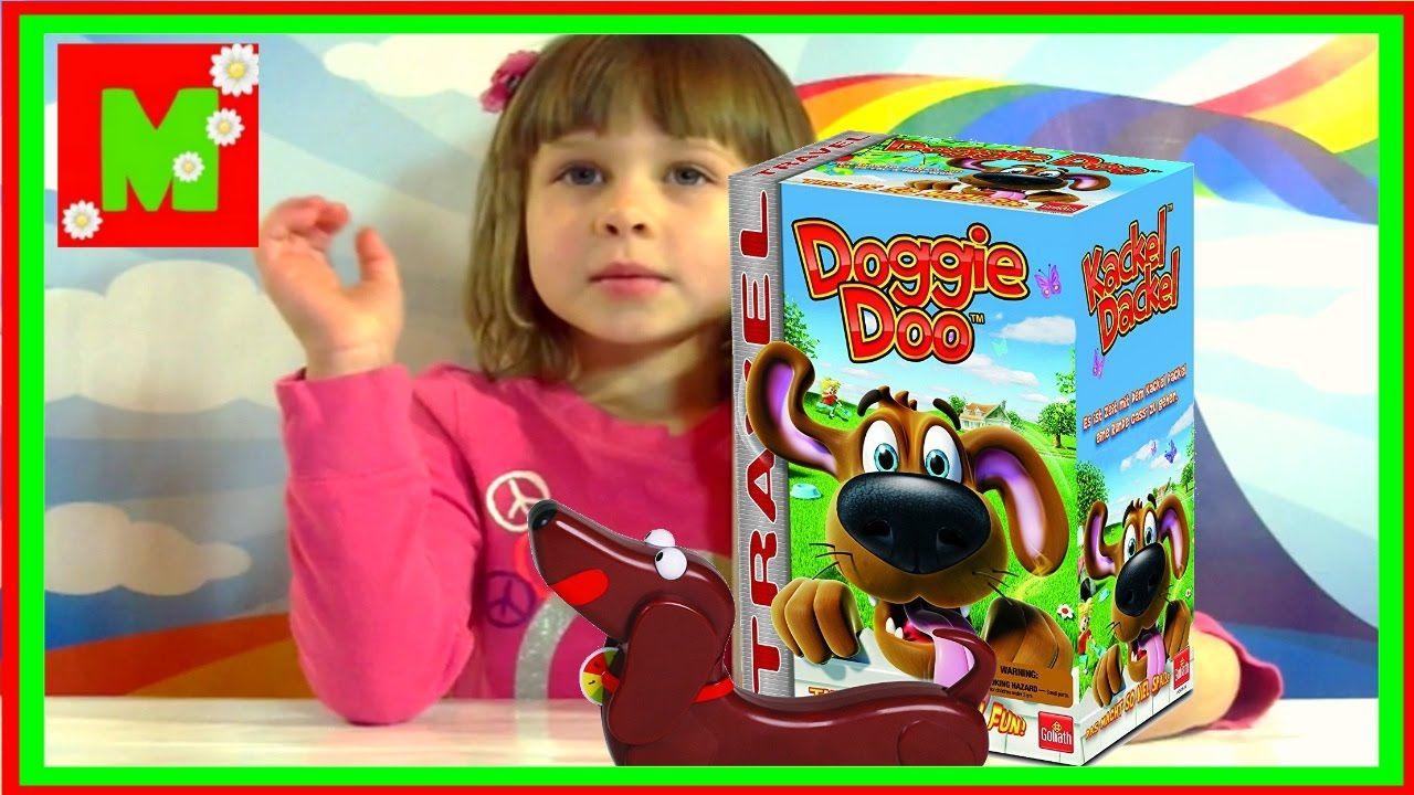 Веселое для детей Собака Ду игра какающая собака Распаковка Doggie Doo T...