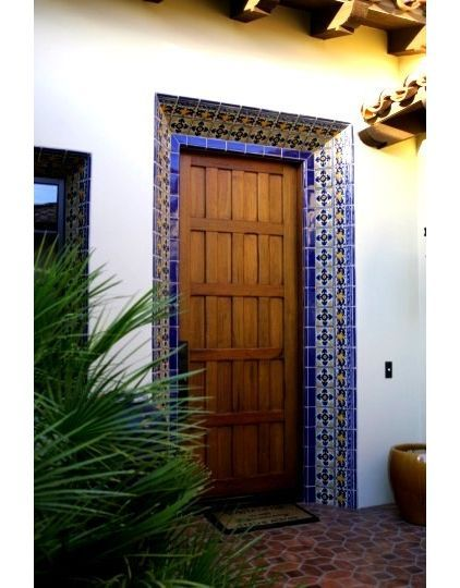 mediterranean entry by Latin Accents Inc. ~ like this tile around the door. & mediterranean entry by Latin Accents Inc. ~ like this tile around ...