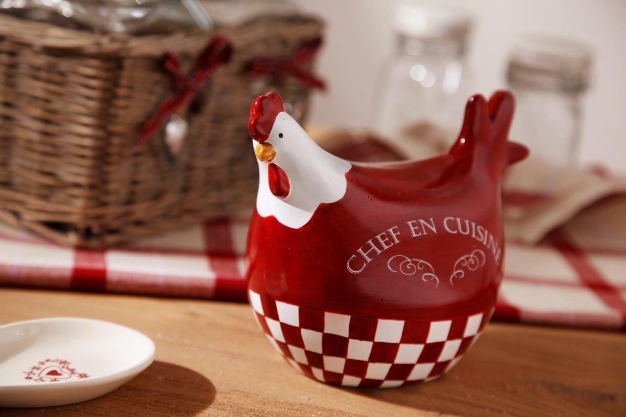 """Poule rouge """"Chef en cuisine"""". AMADEUS.  Decoration noel"""