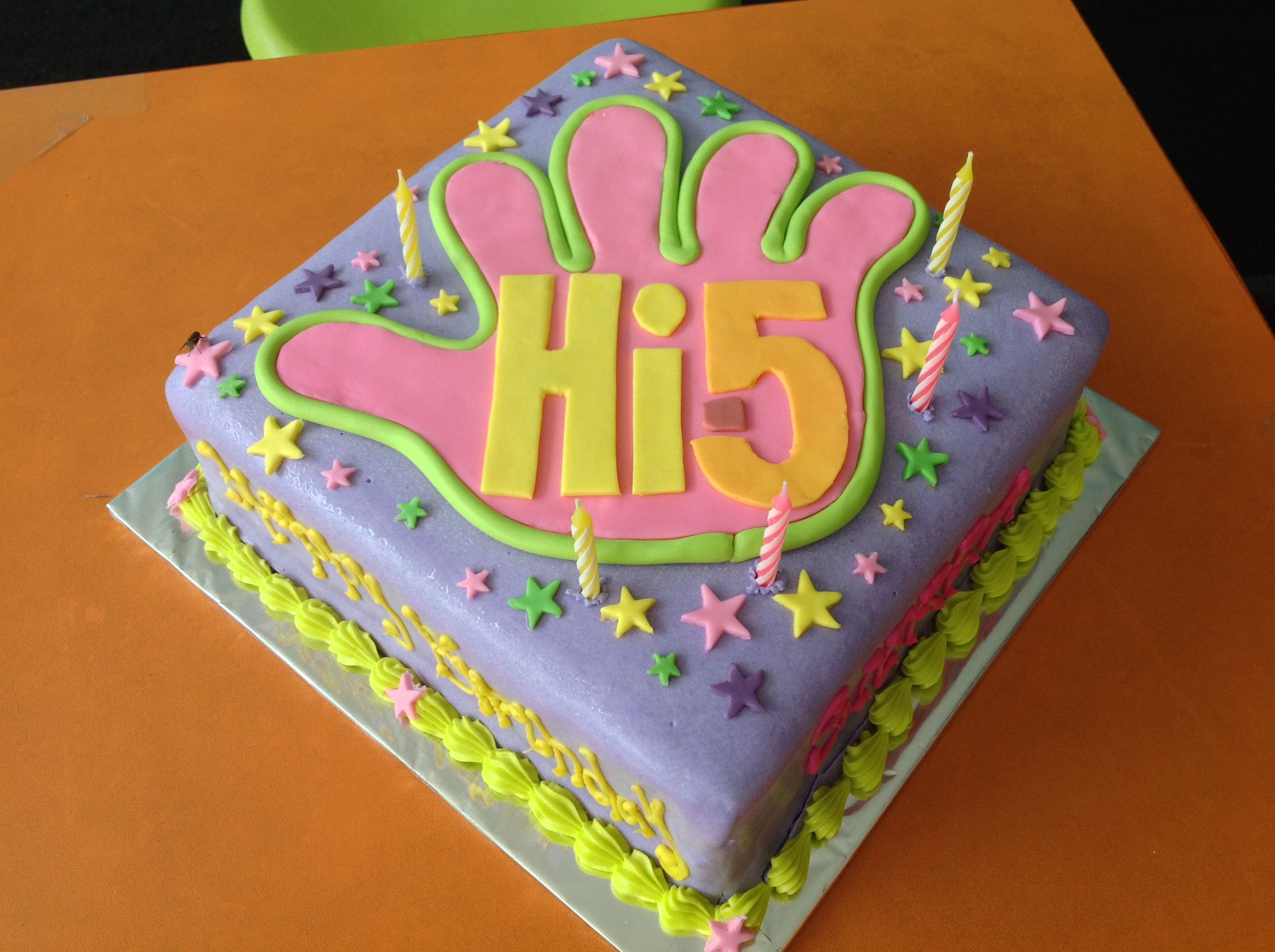 Hi 5 Birthday Cake 5th Birthday Cake Birthday Kids Birthday