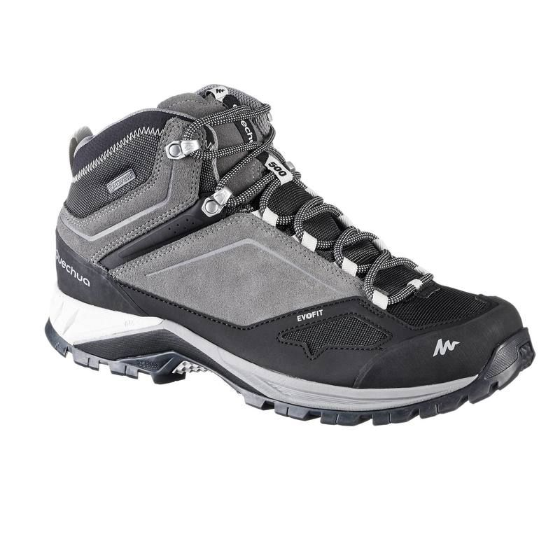 Botas De Senderismo En Montana Hombre Mh500 Mid Impermeables Gris Trekking Shoes Boots Hiking Boots