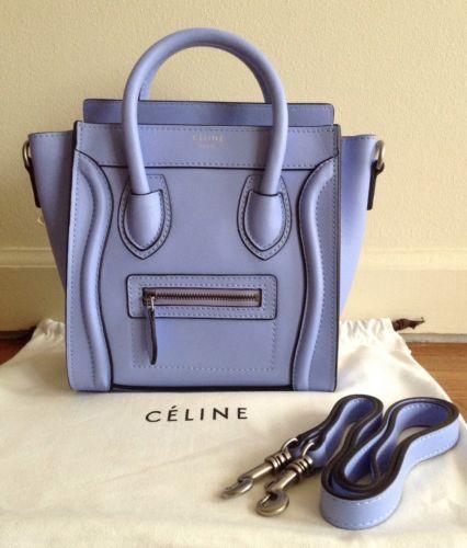 Céline Luggage Nano Boston Cross Body Tote Light Blue  7c85fb00c7595