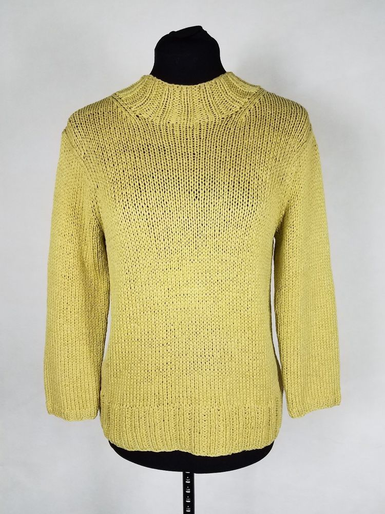 Neiman Marcus Womens Medium Knit Top Sweater 100 Silk 34 Sleeve