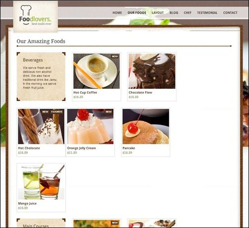 This is HTML5 restaurant elite template You can use it for - sample cafe menu template