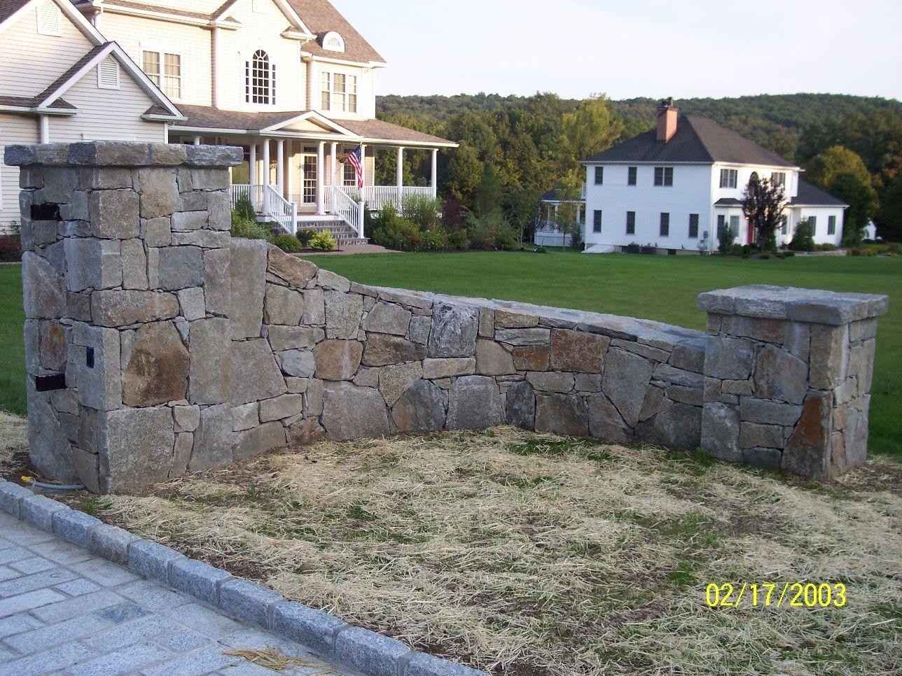 Rock wall drawing rock pillars the wall - Stone Pillar For Driveway Entrance