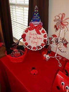 idea for fancy plate we have Ladybug Party Pinterest Ladybug