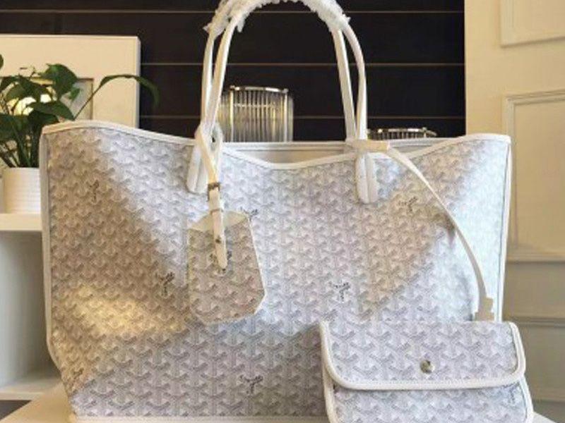 Goyard-Goyard Anjou Reversible Tote Mm White  fashionbag  9969d0a97dbc4