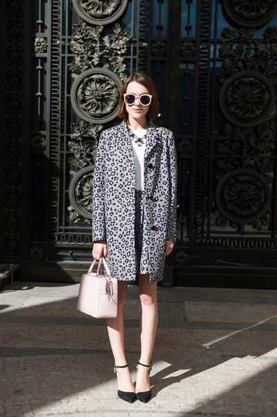 Prints in street style. Ella Catliff in leopard at Paris Fashion Week Spring 2015