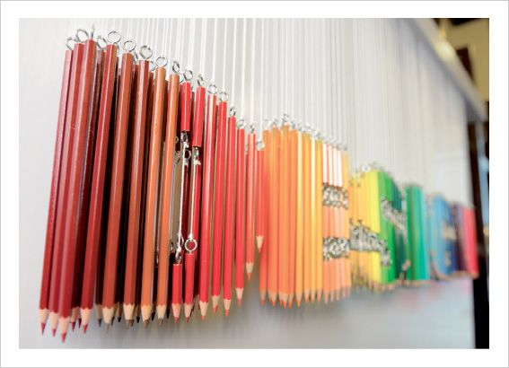 Type Installation using colour pencils by The Other Bookstore in Malaysia