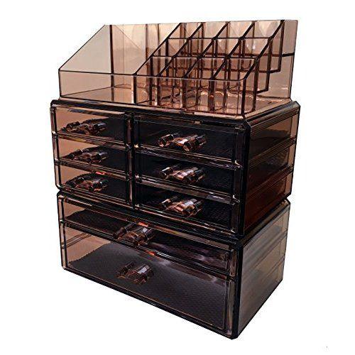 Sorbus Acrylic Cosmetics Makeup and Jewelry Storage Case Display 4
