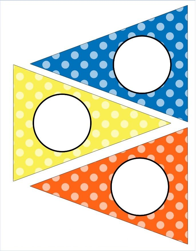 dots - primary | BANners BUNtings | Pinterest | Banderin, Cumple y ...
