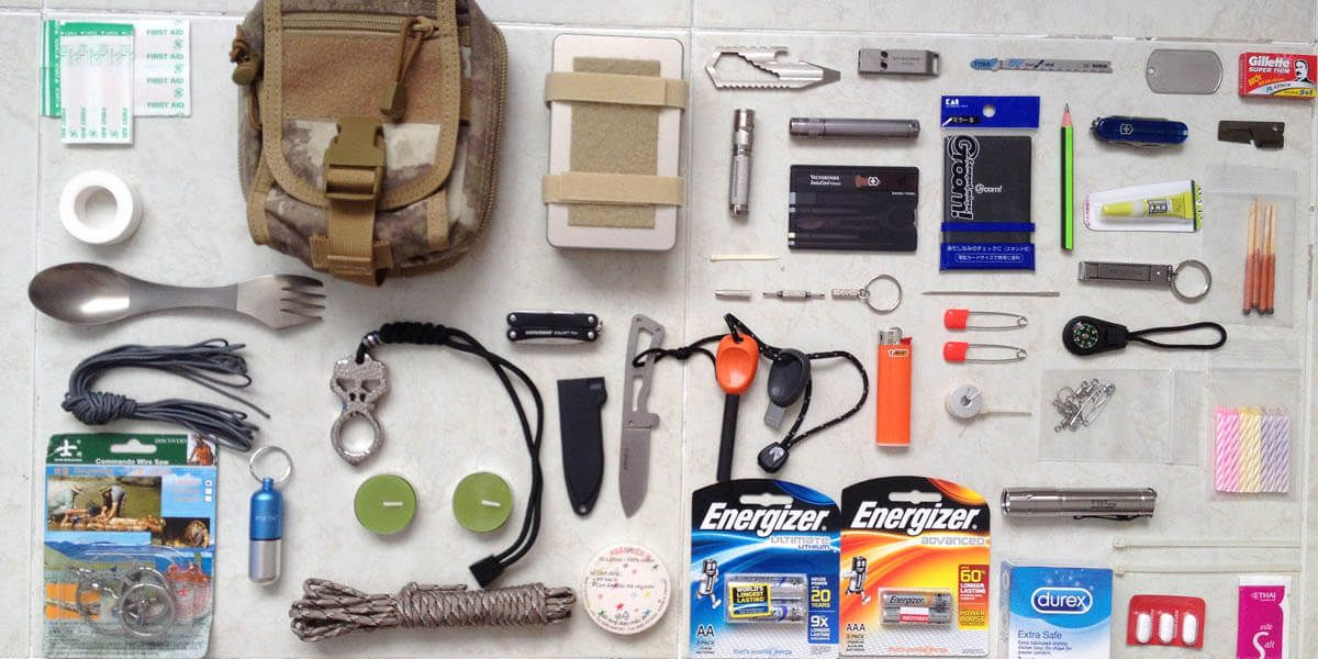 2d1f1b23336 Want to build an EDC kit for urban survival  Check out these pictures and  gear lists of EDC kits used by real people.