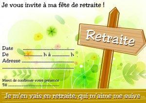 carte invitation retraite gratuite Épinglé par Vero59 sur retraite en 2020 | Invitation retraite