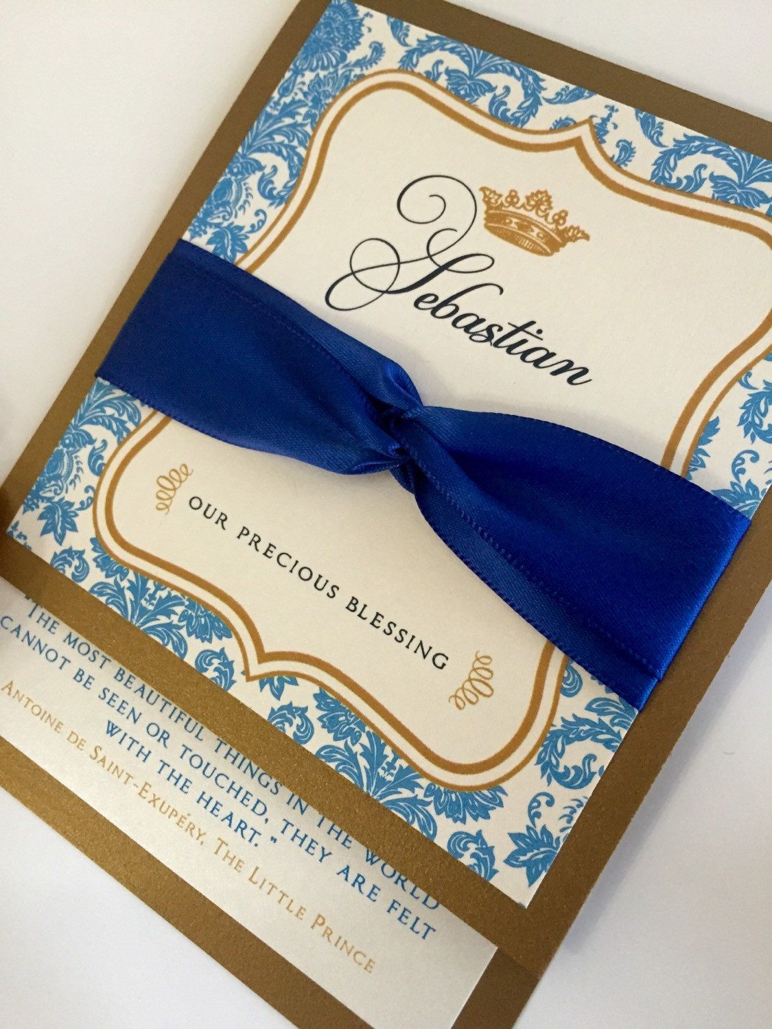 New to anaderoux on Etsy: Prince baby shower invitations - Royal ...