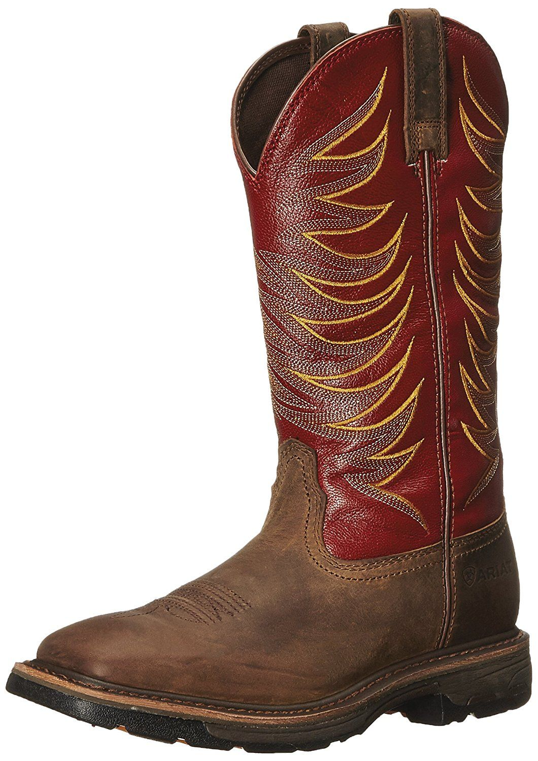 760acb2e742 Ariat Men's Workhog Wide Square Toe Tall II Soft Toe Distressed Boot ...