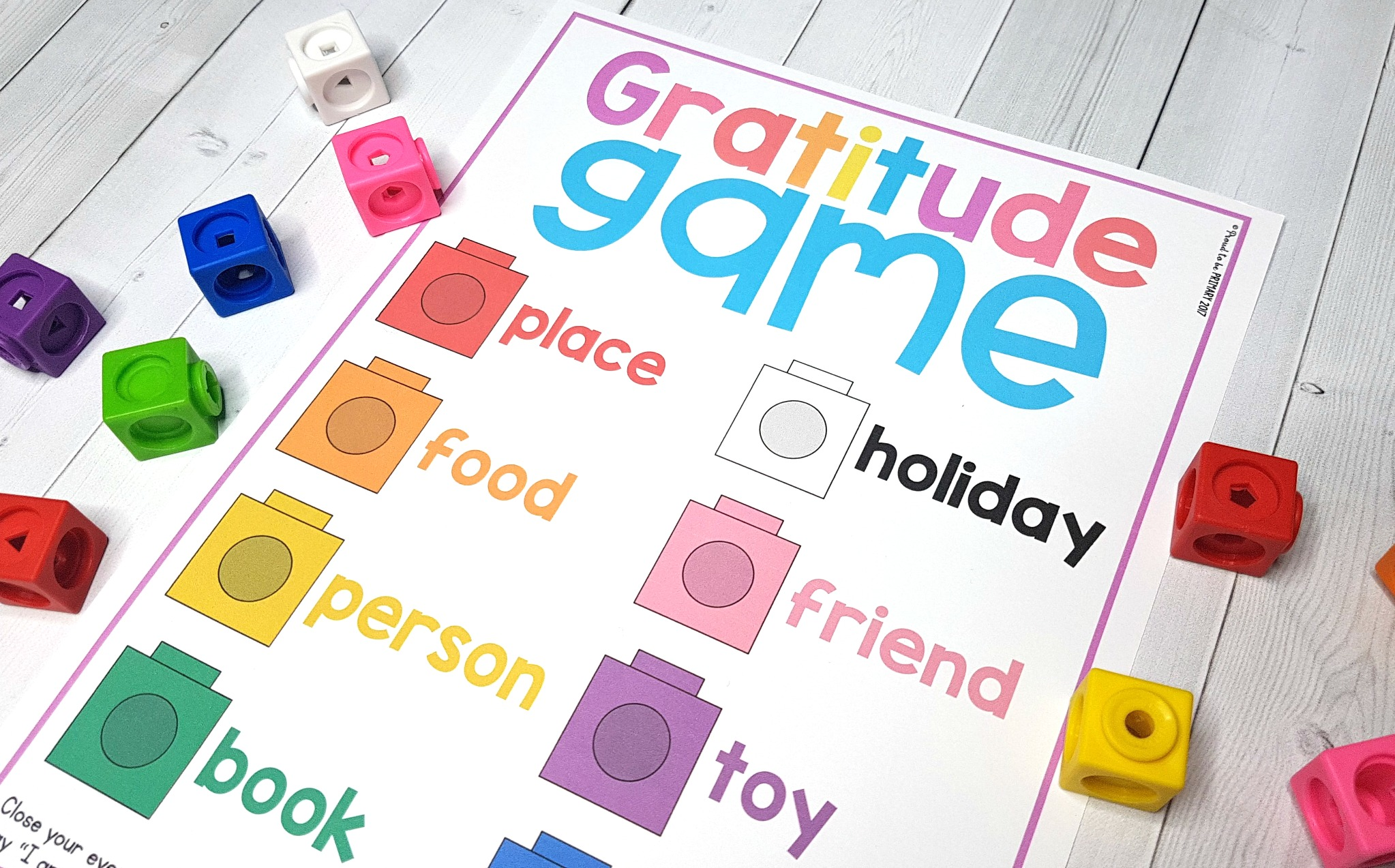Proud To Be Primary Gratitude Game