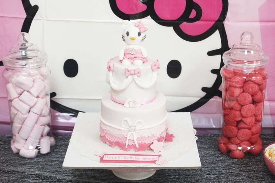 Hello Kitty cake for a 4th Birthday party in Chatham Kent