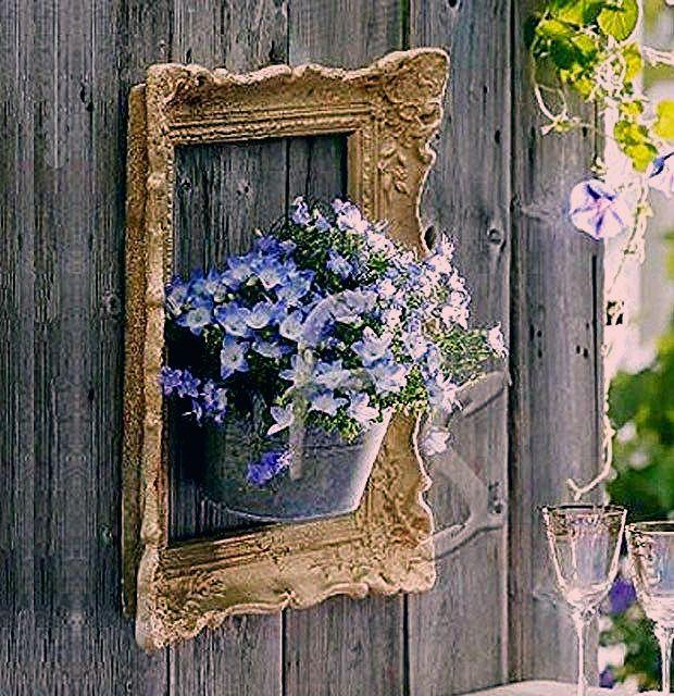 Amazing ideas for eyecatching DIY framed flower gardens
