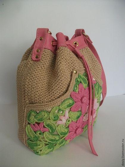 Τσάντες χειροποίητα. πλεκτά τσάντα. Galina Dotsenko. Πλεκτά τσάντες .. Ηλεκτρονικό Κατάστημα Fair Masters.