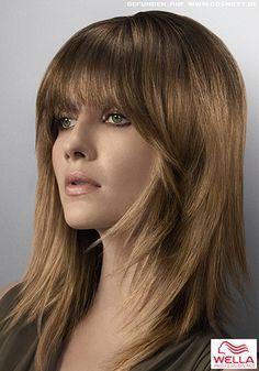 Frisuren Mit Pony Und Stufenschnitt Haare Meister Pinterest