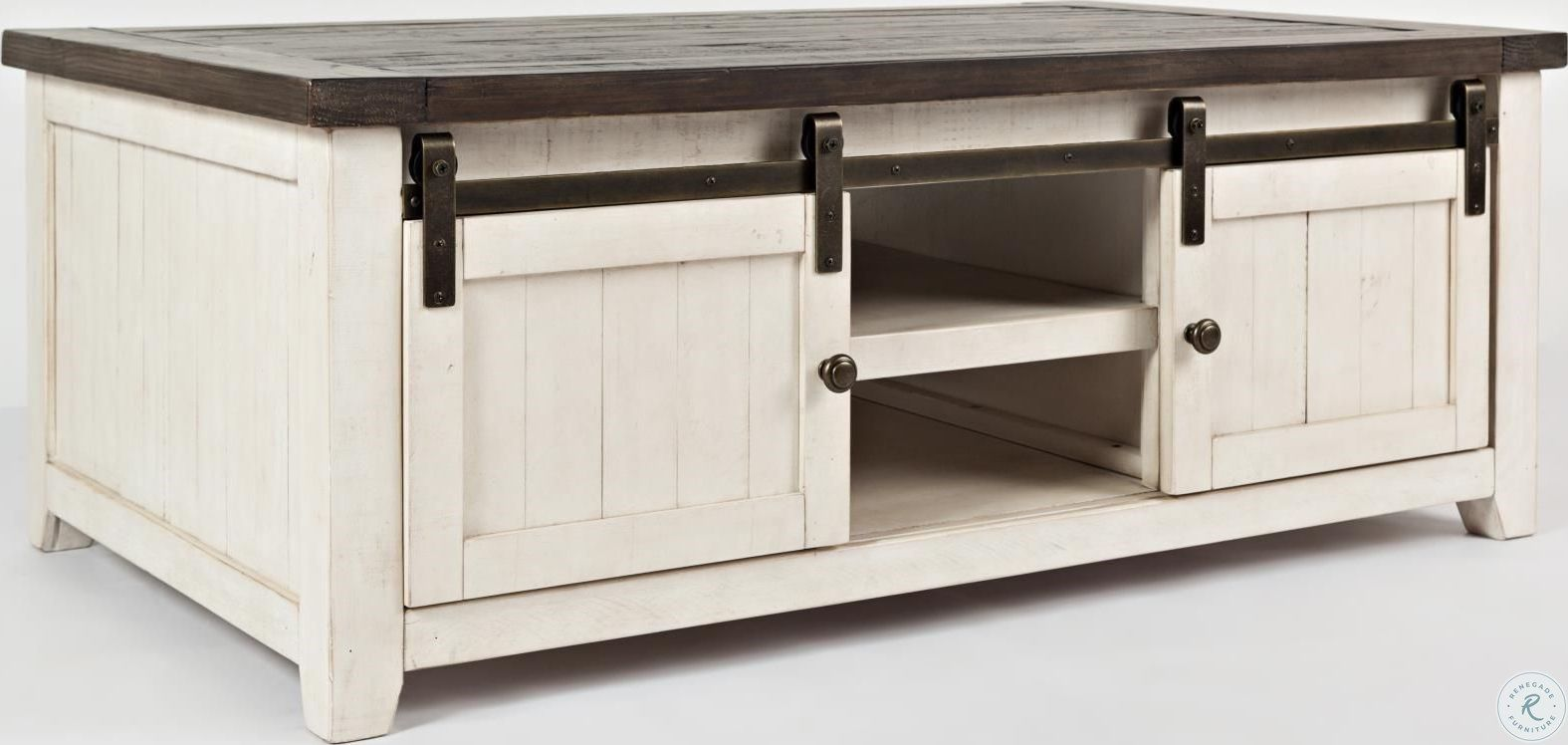 Parisian Marketplace Two Tone Heathered Brownstone Round Cocktail Table Door Coffee Tables Coffee Table White Coffee Table [ 748 x 1575 Pixel ]
