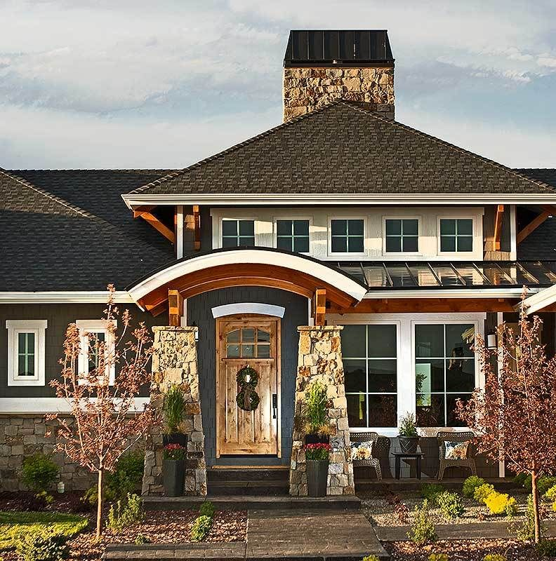 Craftsman House Plan with Striking Entry Porch