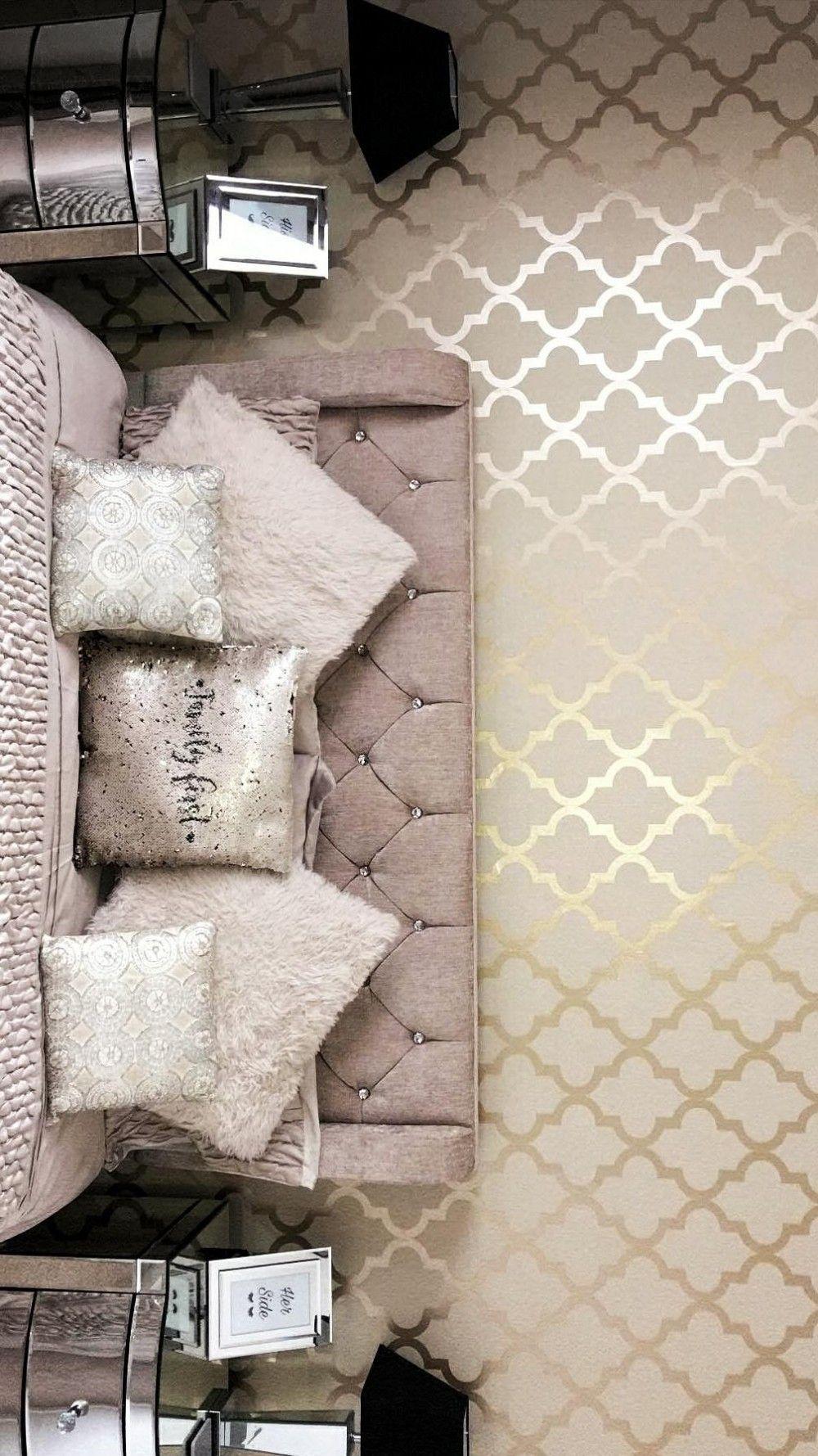 Papier Peint Petit Salon henderson interiors papier peint trellis camden crème doré