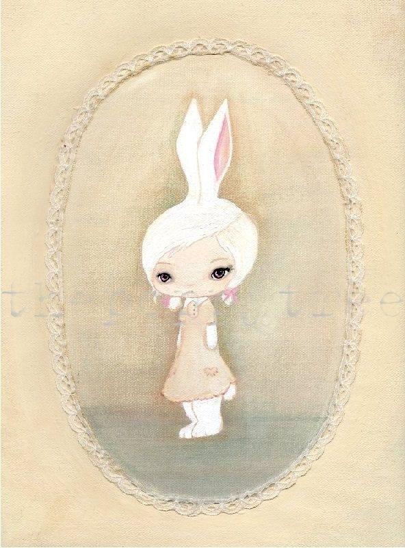 Rabbit PrintSomebunny Somewhere 5 x 7 by thepoppytree on Etsy