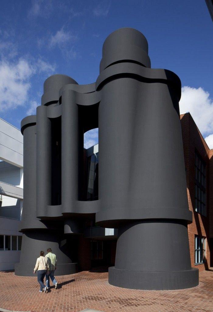 El Binoculars Building De Los Angeles Famous Buildings Unusual