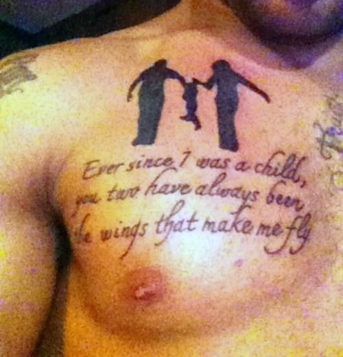 50 Father Daughter Tattoos Every Daddy S Girl Needs: Mens Chest Father Son Tattoo Quotes