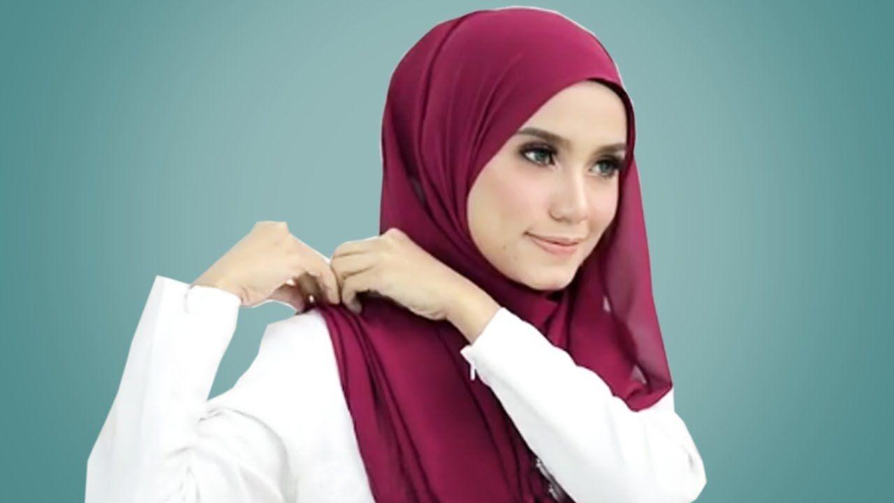 10 Tutorial Terbaru Cara Memakai Hijab Segi Empat Simple Cantik Tanpa Ribet Youtube Cute766