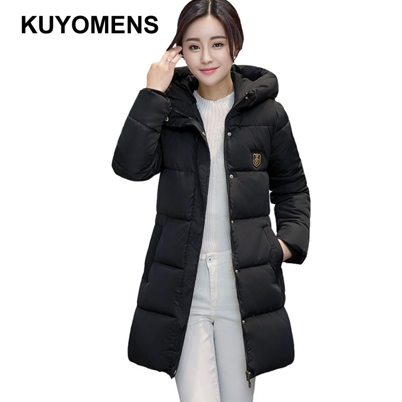 1e7bda6d175 KUYOMENS Women s Winter Coat Women Plus Size M-XXXL Parka Luxury Fashion  Cotton-Padded