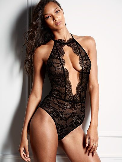6cde7fd4d High-Neck Lace Teddy - Very Sexy - Victoria s Secret