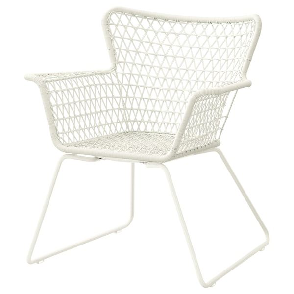 Hogsten Armchair Outdoor White Width 28 3 4 Ikea Outdoor Dining Furniture Outdoor Dining Chairs Contemporary Outdoor Chairs