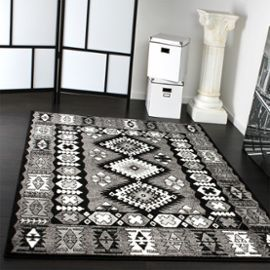 tapis oriental classique motif poil court gris noir blanc 70x140 cm tapis pinterest tapis. Black Bedroom Furniture Sets. Home Design Ideas