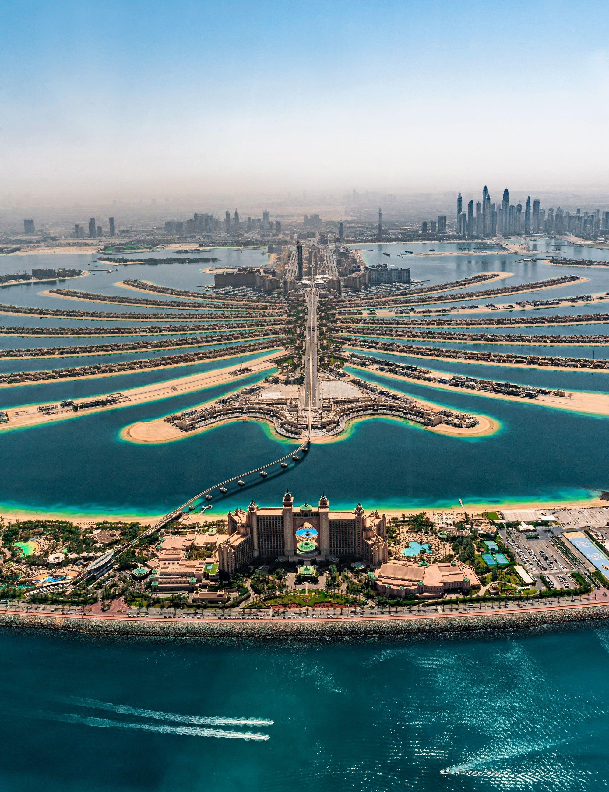 Apoteoza invenției umane este Palm Jumeirah din Dubai: o
