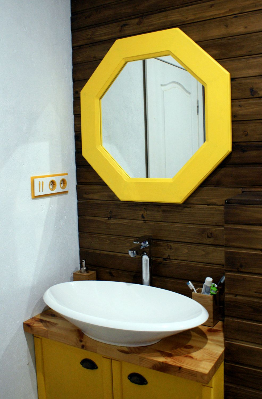 Bathroom mirrors winnipeg - Octagonal Mirror Sydney Yellow Mirror Modern Style Natural Wood Mirror Bathroom Mirror Loft Mirror Wall Mirror Unique Mirror
