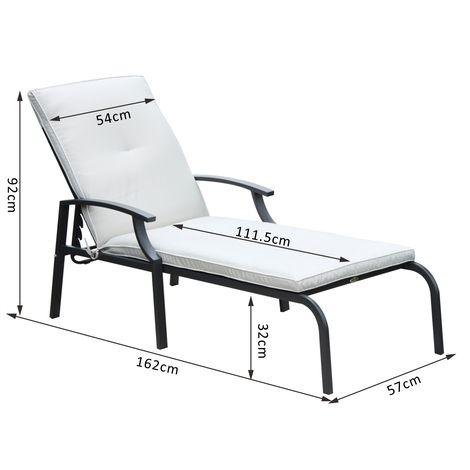 Chaise longue transat design dossier réglable avec matelas ...