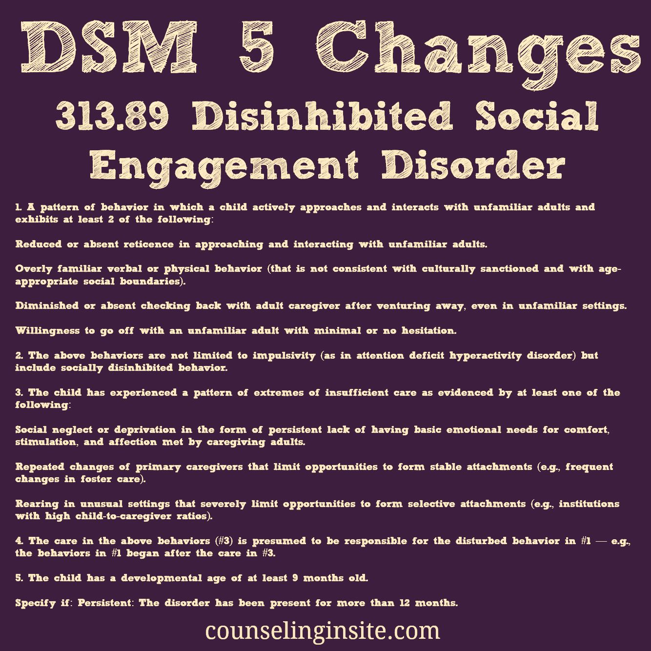 disorder dsm attachment iv Adult