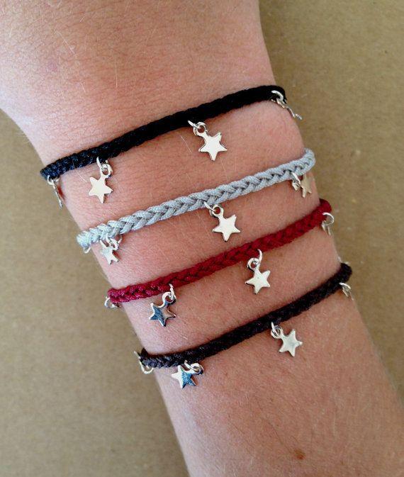 Silver Plated Stars Charm Friendship Bracelet Cute Friendship Bracelets Diy Charm Bracelet Friendship Bracelets