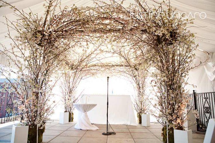 Cherry Blossom Branch Floral Wedding Arch