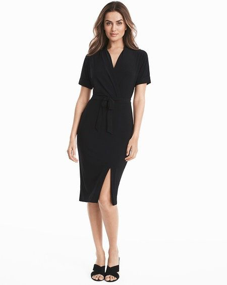Short Sleeve Black Knit