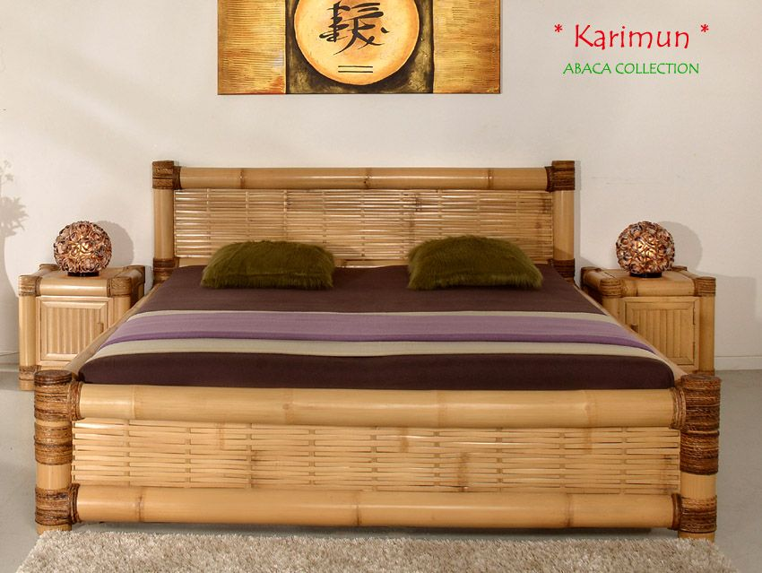 Karimun Designer Bambusbett 200x220 Abaca Collection